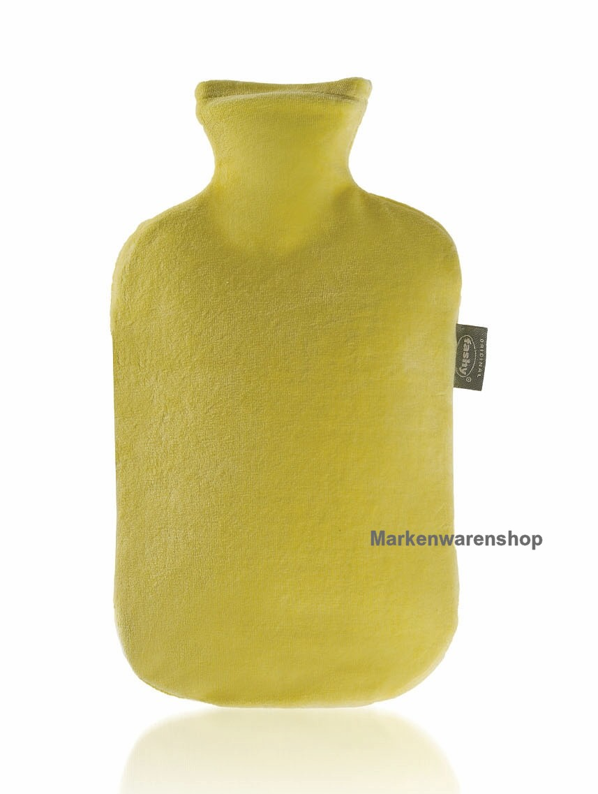 fashy w rmflasche mit nicki velour bezug in gelb bettflasche nicki velour ebay. Black Bedroom Furniture Sets. Home Design Ideas