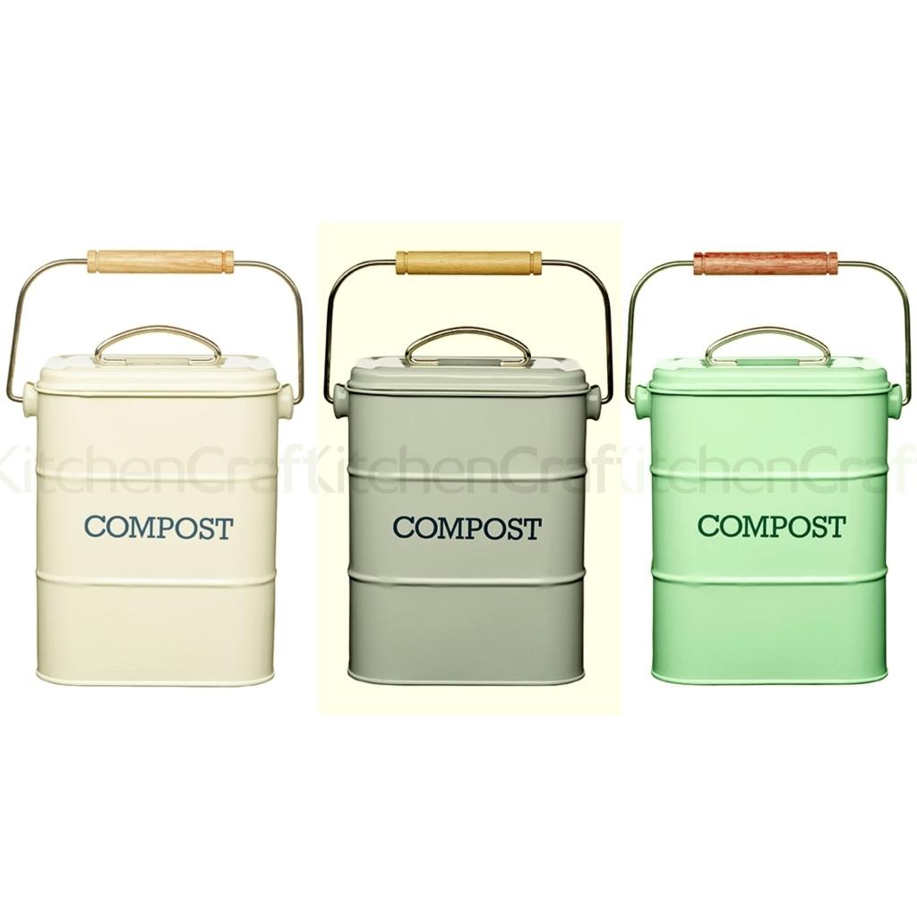 KitchenCraft - Komposteimer Bio-Abfalleimer mit Aktivkohlefilter ...