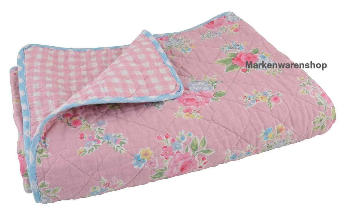 ib laursen quilt sandra rosa 180x130cm tagesdecke decke berwurf 0723 07 ebay. Black Bedroom Furniture Sets. Home Design Ideas