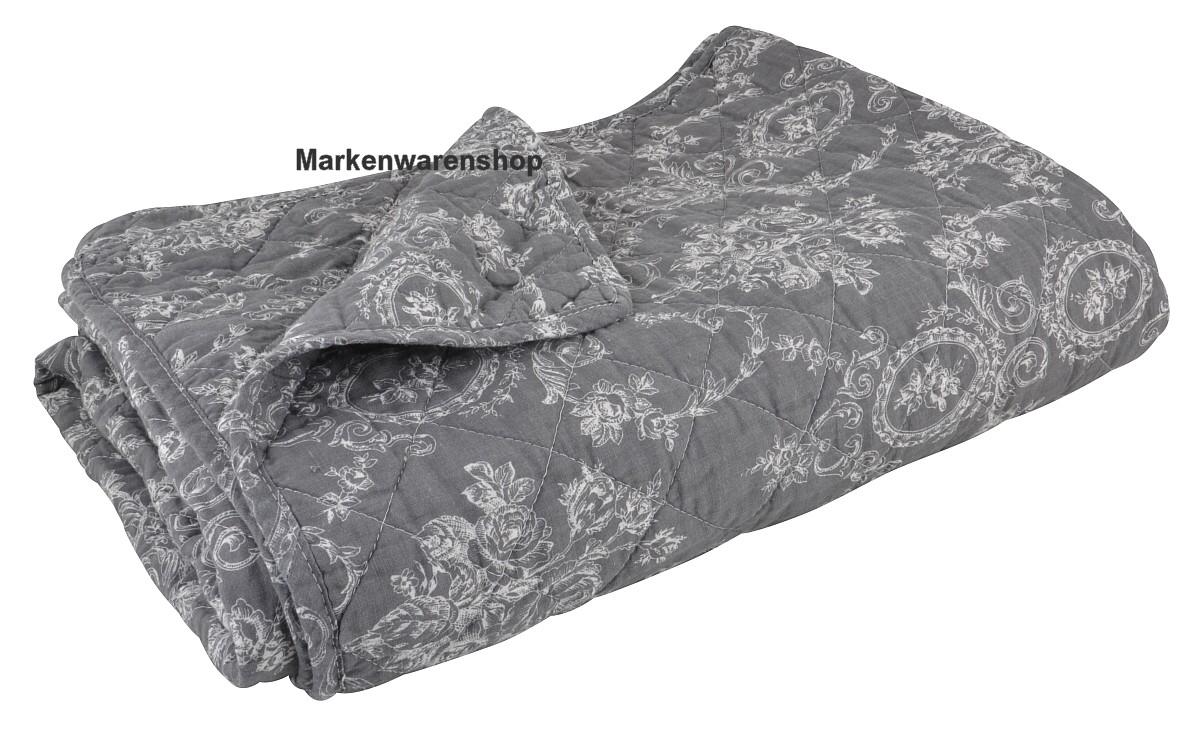 ib laursen quilt sandra grau 180x130cm tagesdecke decke berwurf 0721 00 ebay. Black Bedroom Furniture Sets. Home Design Ideas