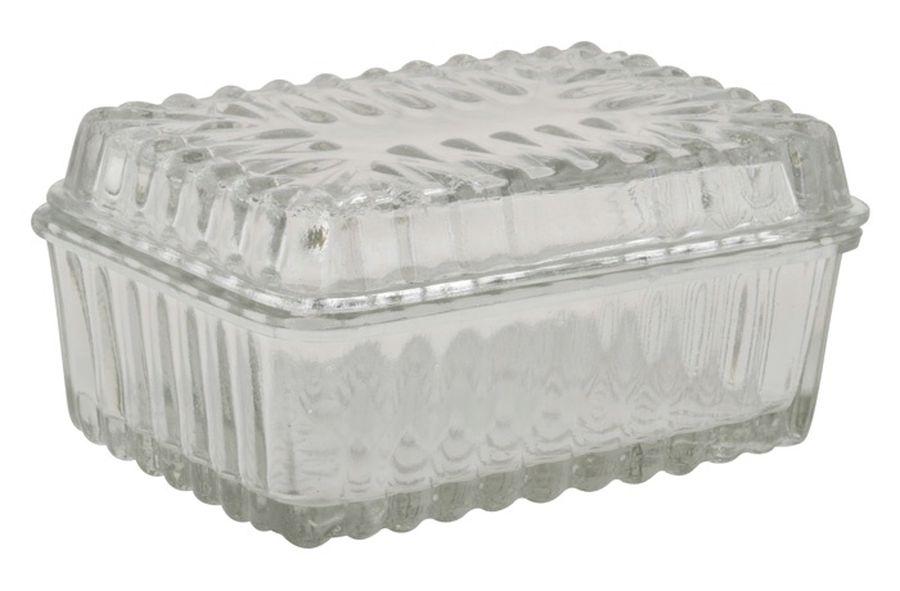 ib laursen kleine butterdose aus glas 8364 00 butterschale butterglocke ebay. Black Bedroom Furniture Sets. Home Design Ideas