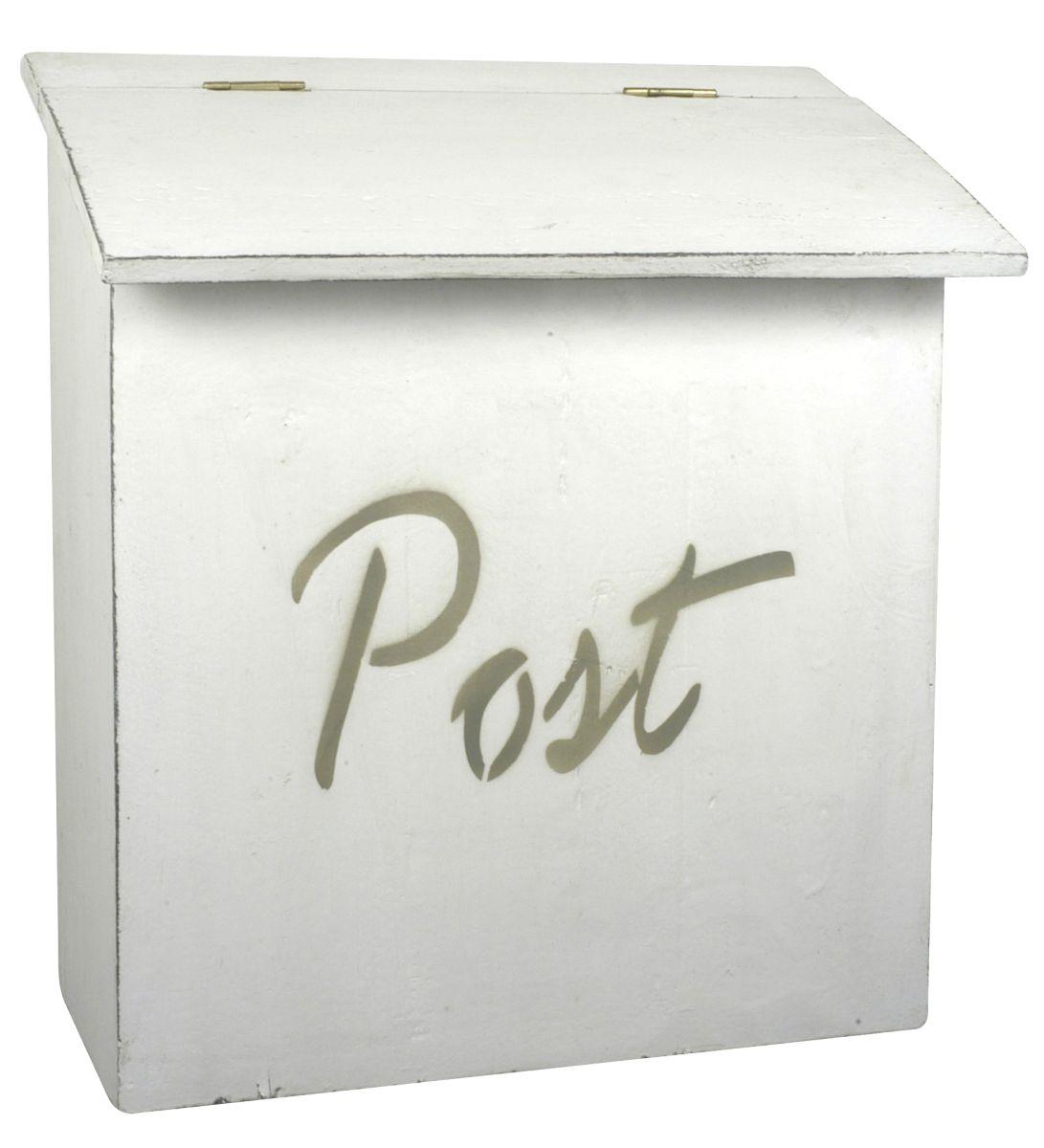 ib laursen briefkasten post wei holz postkasten 2213 11 shabby vintage ebay. Black Bedroom Furniture Sets. Home Design Ideas