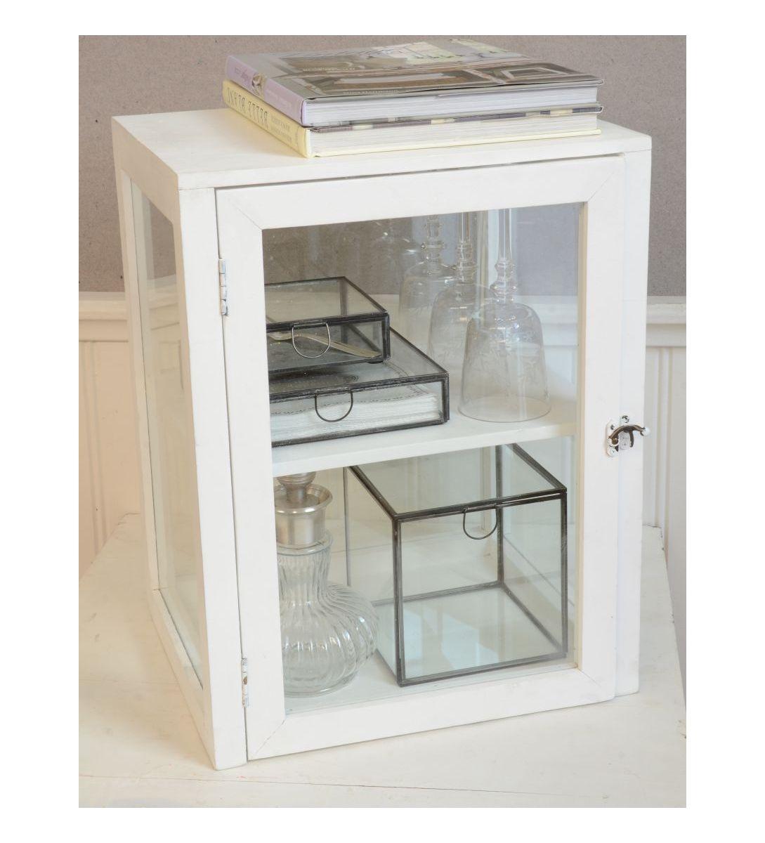 laursen regal 4 glasseiten schr nkchen schwarz 5281 24 fliegenschrank shabby ebay. Black Bedroom Furniture Sets. Home Design Ideas