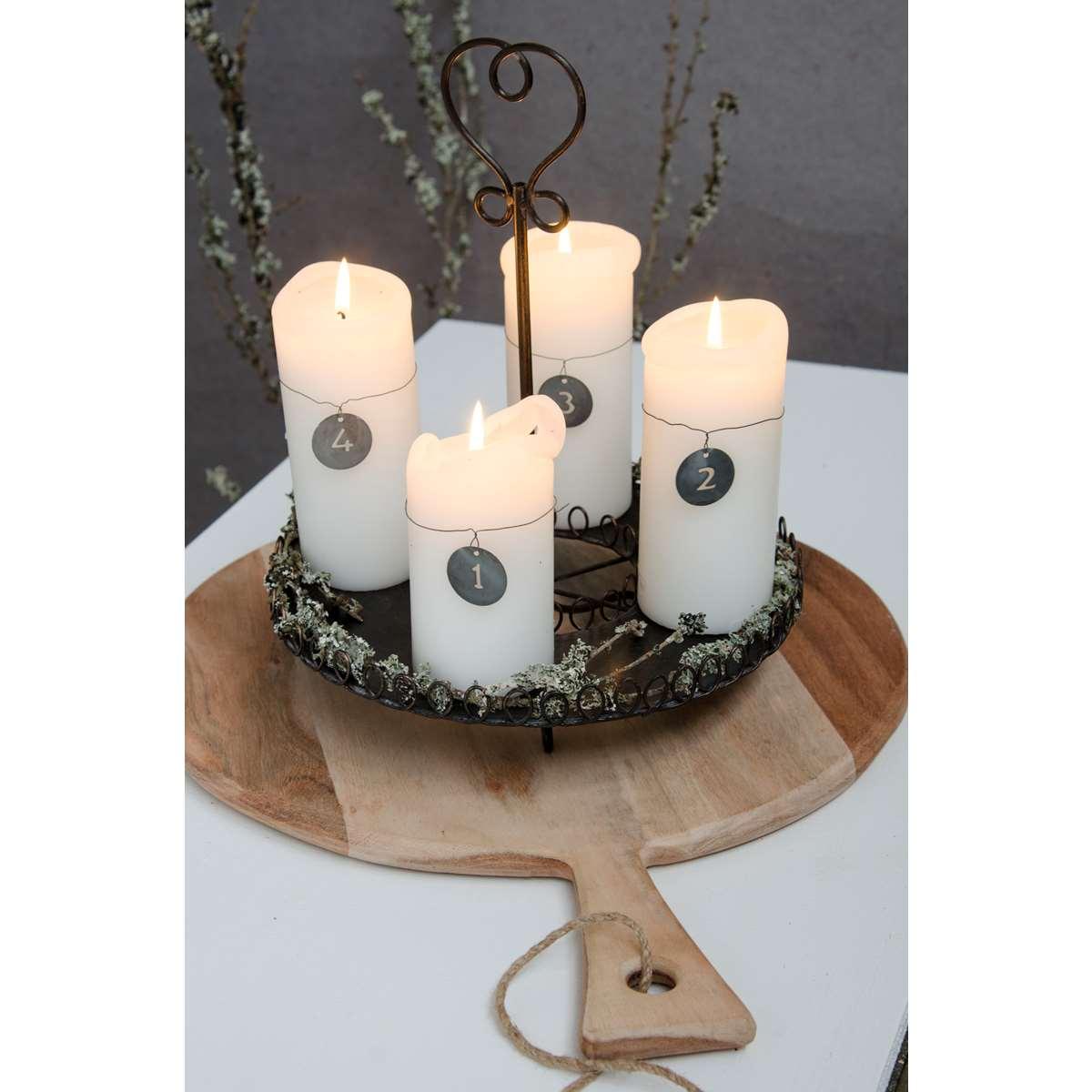 laursen kerzenst nder metall schwarz 3338 25. Black Bedroom Furniture Sets. Home Design Ideas