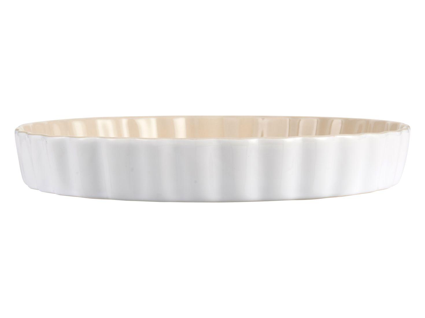 Quiche Auflaufform rund 27cm Porzellan Backform Kuchenform Bratform Servierform