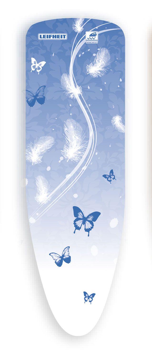 leifheit b gelbezug thermo reflect schmetterling blau 112x34cm b gelbrettbezug. Black Bedroom Furniture Sets. Home Design Ideas