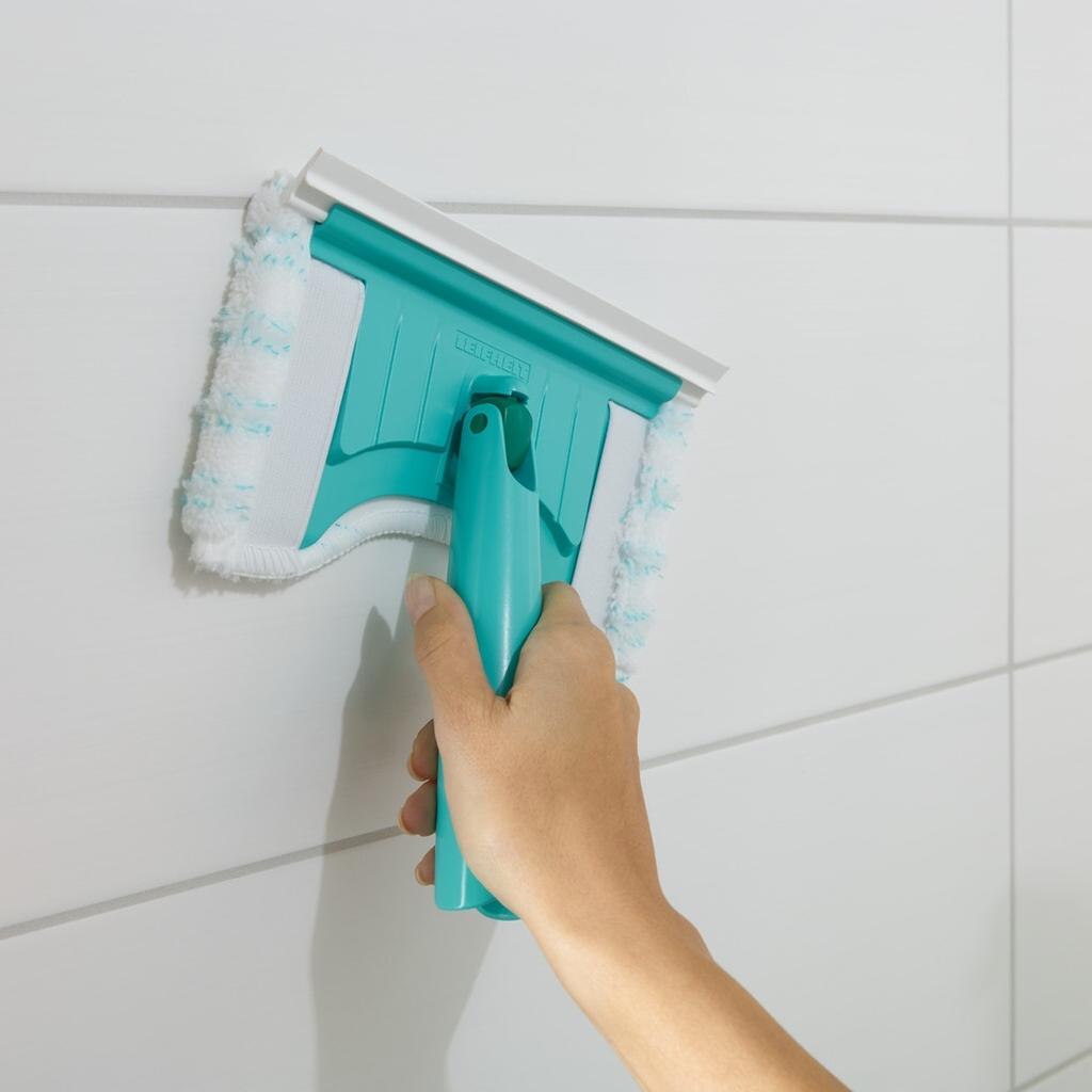Leifheit Fliesen Flex Wannenwischer Abziehlippe Bad Küche Dusche FlexiPad
