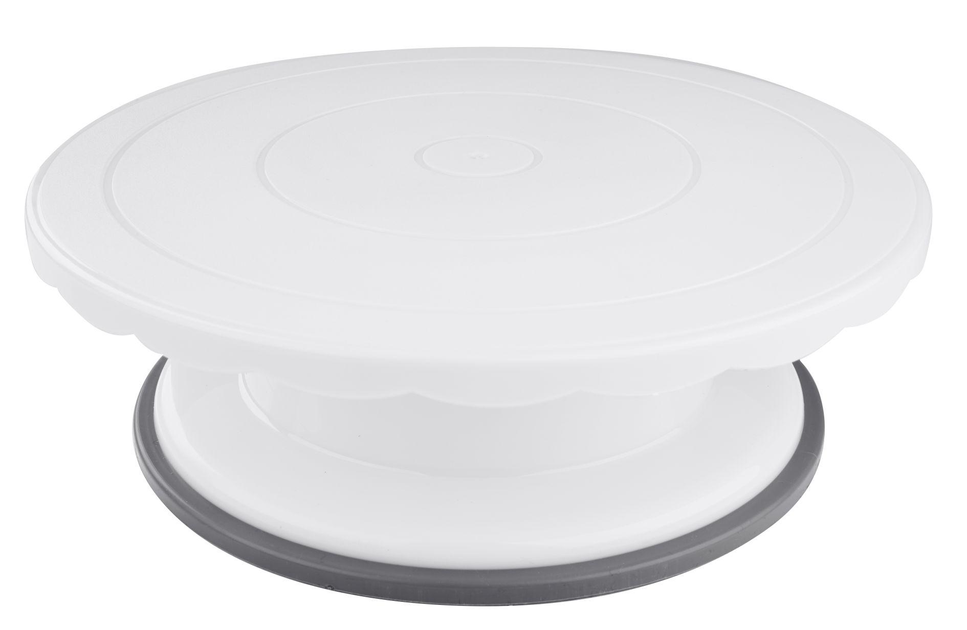 Details zu Dr. Oetker - Drehbare Torten- Kuchen- Platte Ø 17,17cm Weiß 17  Drehteller Deko