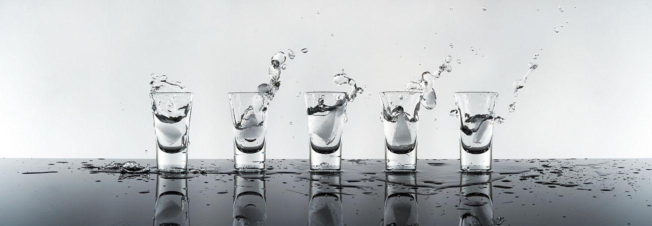"""Glasbild """"Wodka"""" 33X95Cm, Glaswandbild Wandbild Trendbild Glas"""