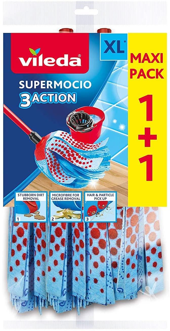 Toppreis Bodenwischmop Wischmop/&Stiel Microfibre Vileda SuperMocio 3 Aktion XL