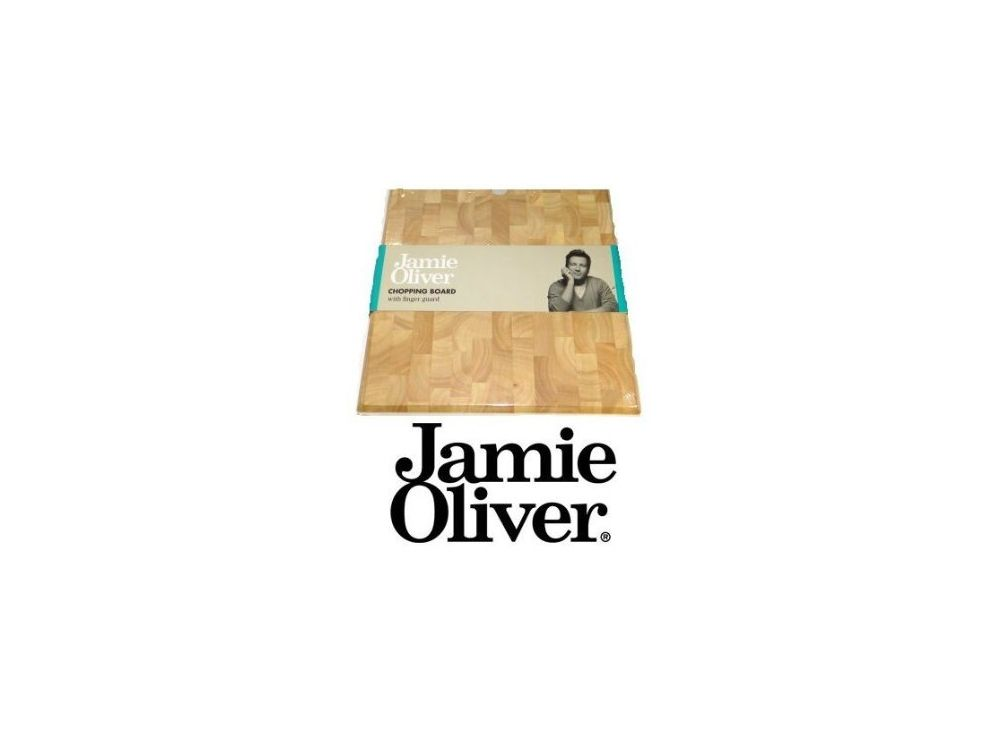 jamie oliver holz schneidebrett mit fingerschutz 30cmx30cmx5cm hackbrett ebay. Black Bedroom Furniture Sets. Home Design Ideas