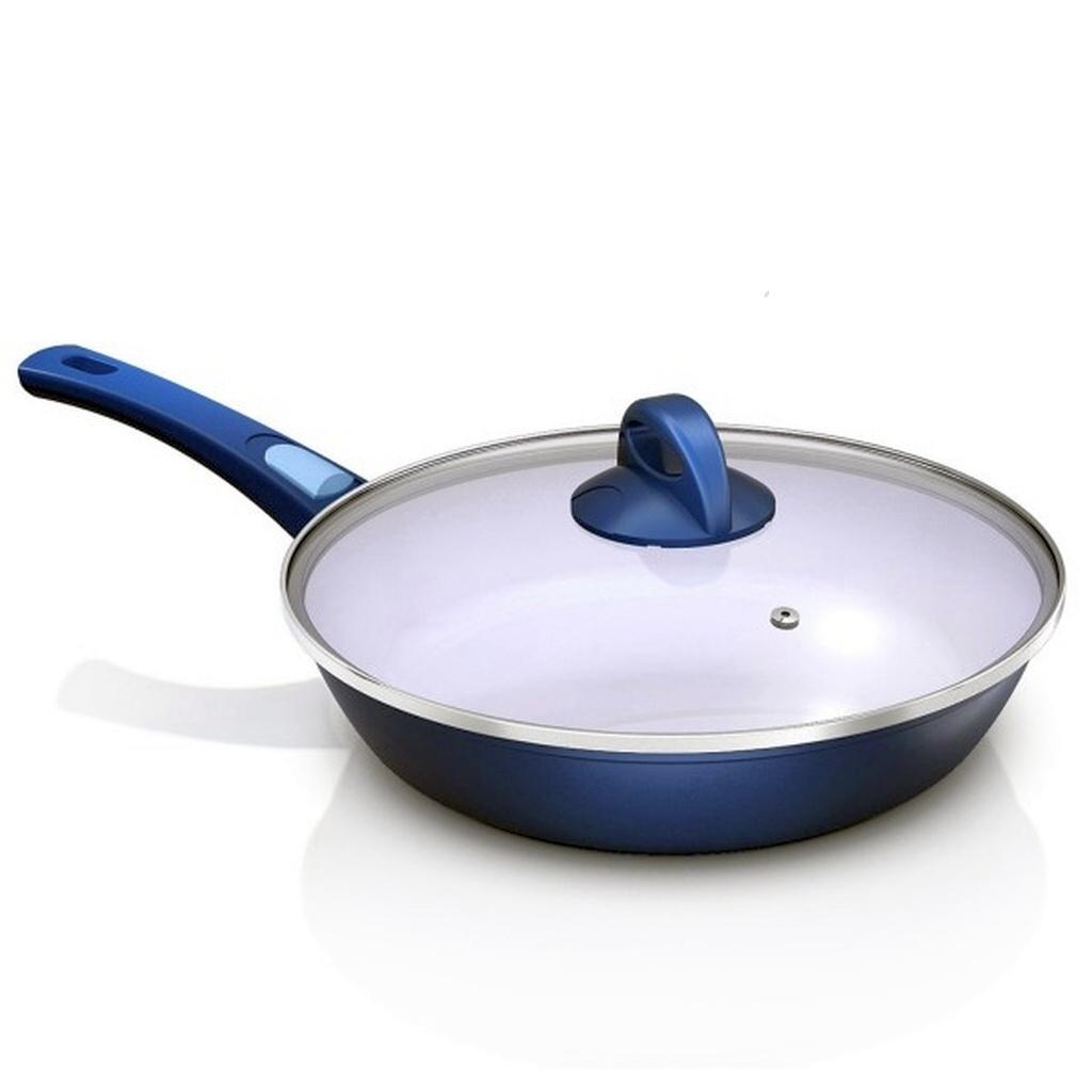 genius cerafit fusion pfanne 28 glasdeckel blau keramik pfanne 24089 ebay. Black Bedroom Furniture Sets. Home Design Ideas