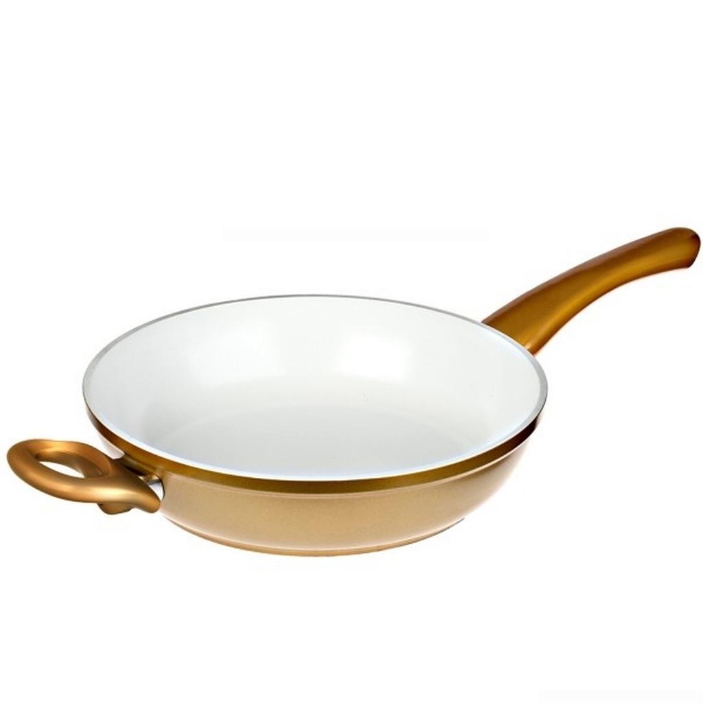 genius cerafit gold hochrandpfanne 24 keramik pfanne. Black Bedroom Furniture Sets. Home Design Ideas