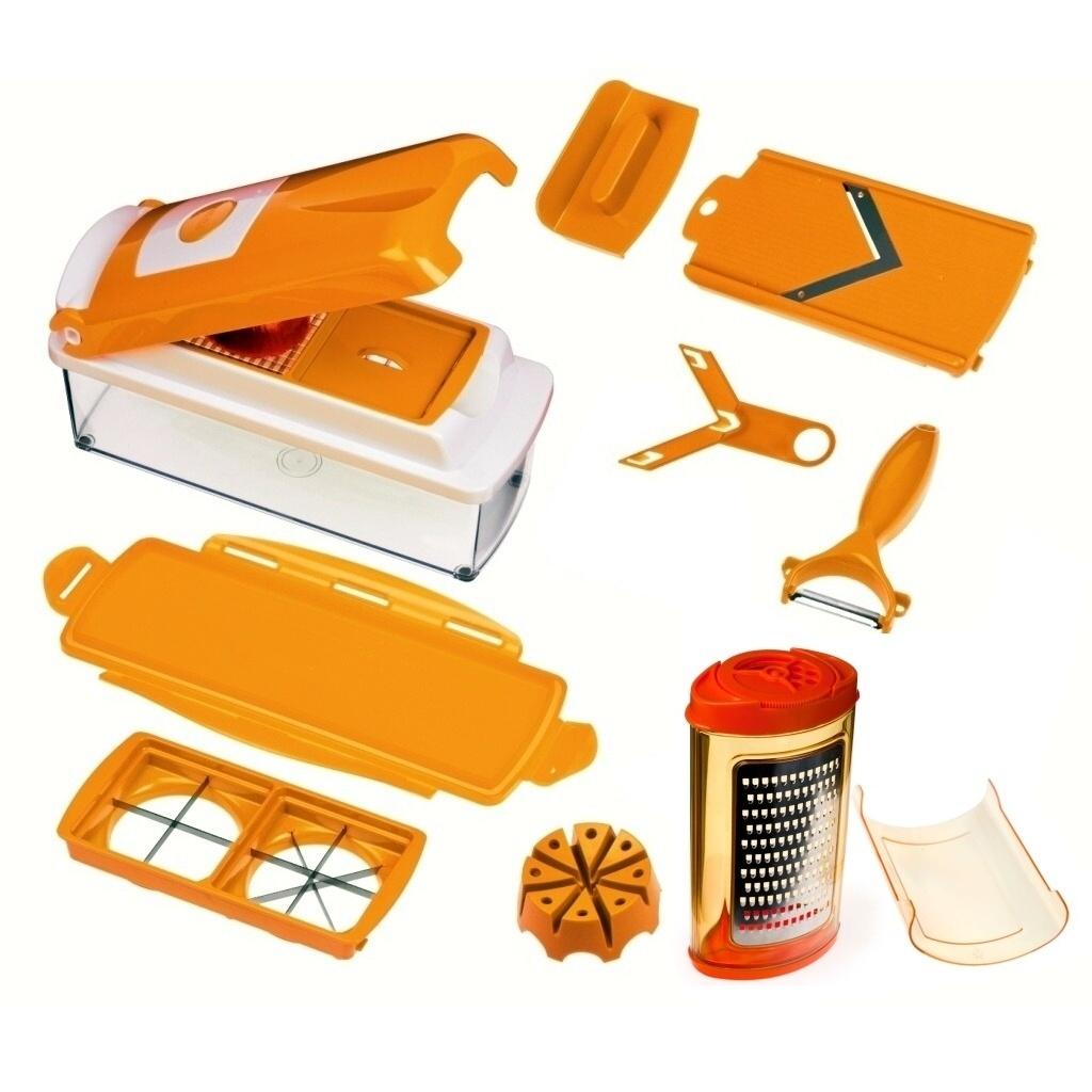 nicer dicer set genius gem seschneider apricot 11 tlg zubeh r w hlbar ebay. Black Bedroom Furniture Sets. Home Design Ideas