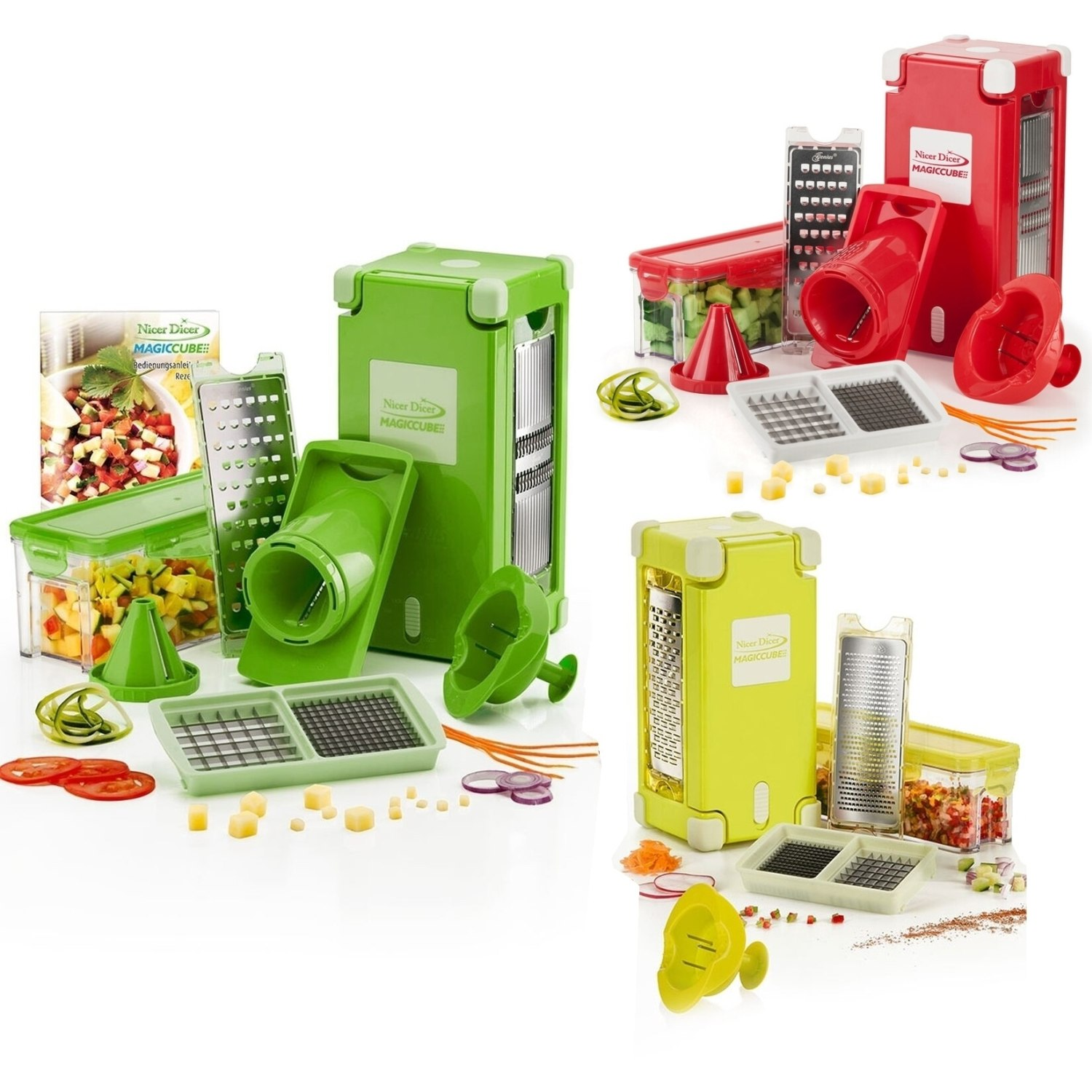 auswahl genius nicer dicer magic cube smart gourmet gem seschneider ebay. Black Bedroom Furniture Sets. Home Design Ideas