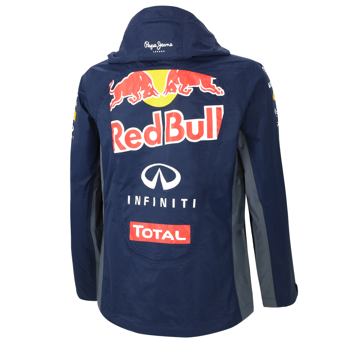 pepe jeans damen teamline jacke regenjacke red bull racing. Black Bedroom Furniture Sets. Home Design Ideas