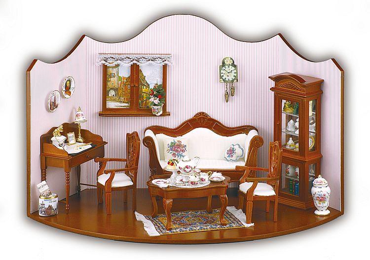 Reutter miniaturen puppenstube wohnzimmer komplett ebay for Wohnzimmer komplett angebot