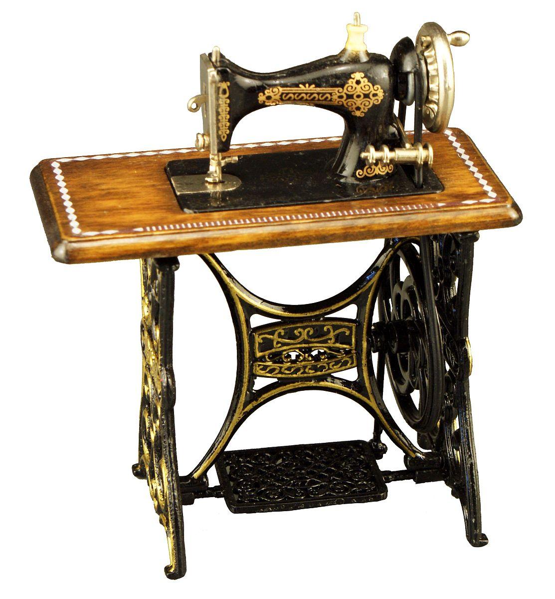 reutter pozellan miniatur n hmaschine mit tisch puppenstube ebay. Black Bedroom Furniture Sets. Home Design Ideas