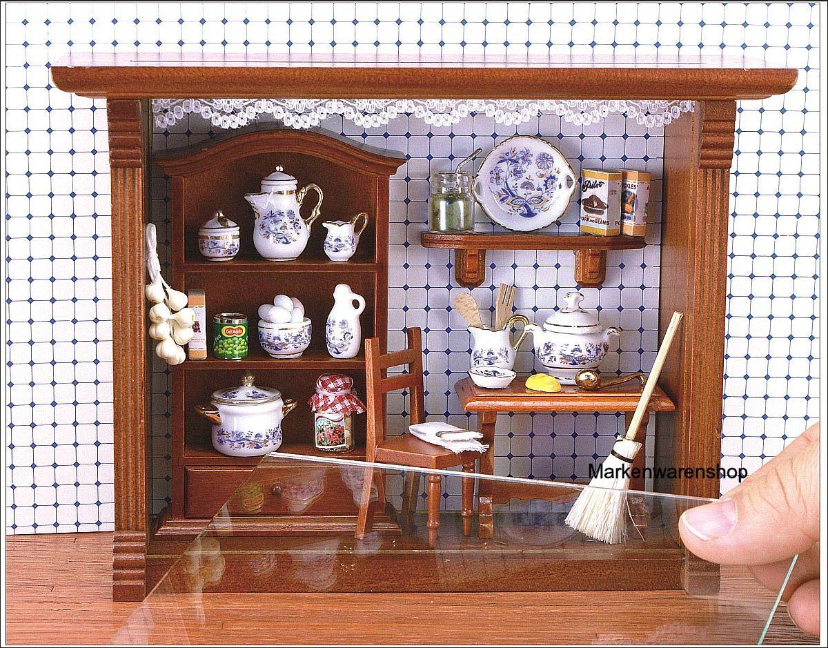 reutter porzellan miniaturen wandbild k che gold. Black Bedroom Furniture Sets. Home Design Ideas