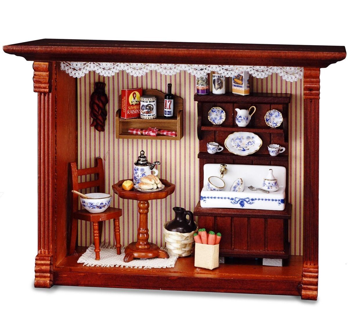 reutter porzellan miniaturen wandbild abwaschtisch k che. Black Bedroom Furniture Sets. Home Design Ideas