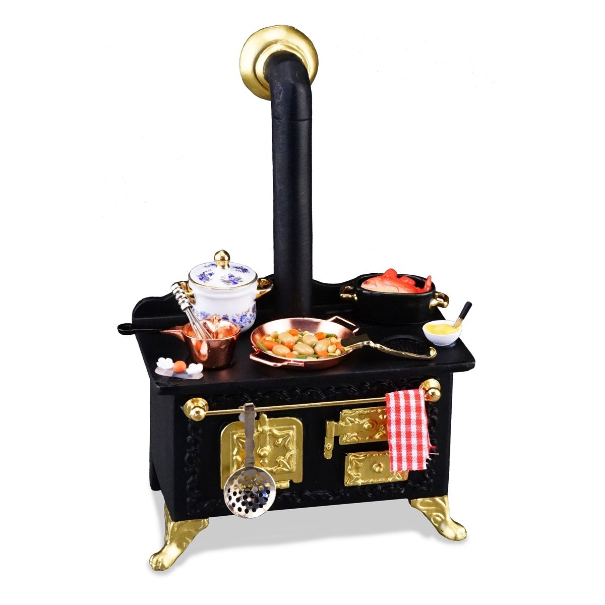 reutter miniaturen k chenherd mit deko 1830 3 puppenstube herd ofen backofen ebay. Black Bedroom Furniture Sets. Home Design Ideas