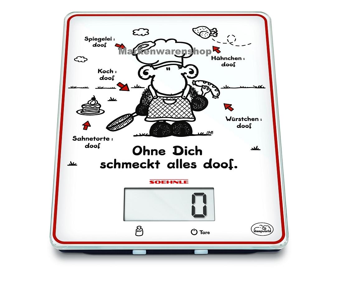 soehnle digitale k chenwaage edition sheepworld ohne dich schmeckt alles doof ebay. Black Bedroom Furniture Sets. Home Design Ideas
