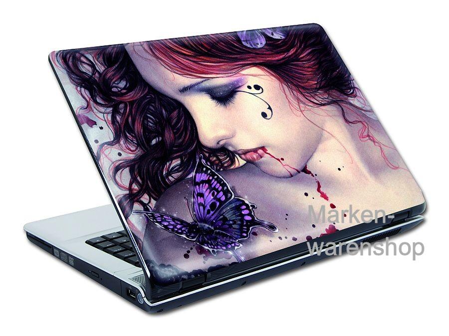 victoria frances laptop sticker folie 10 butterly ebay. Black Bedroom Furniture Sets. Home Design Ideas