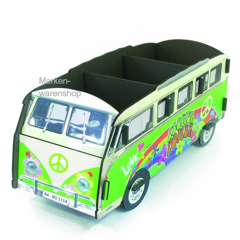 werkhaus cd box cd st nder cd halter f r 30 cds vw bulli hippie bus ebay. Black Bedroom Furniture Sets. Home Design Ideas