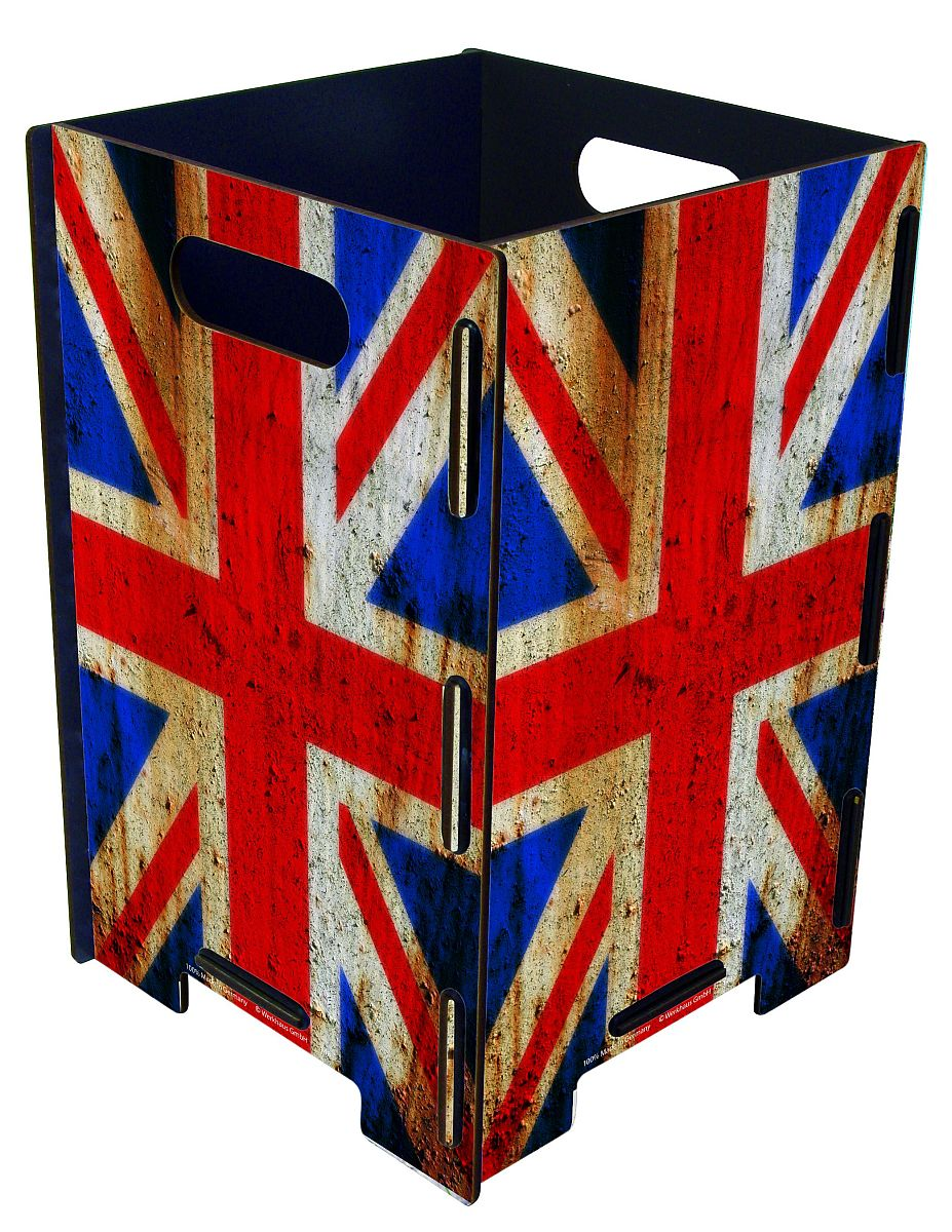 werkhaus papierkorb flagge england gro photopapierkorb. Black Bedroom Furniture Sets. Home Design Ideas
