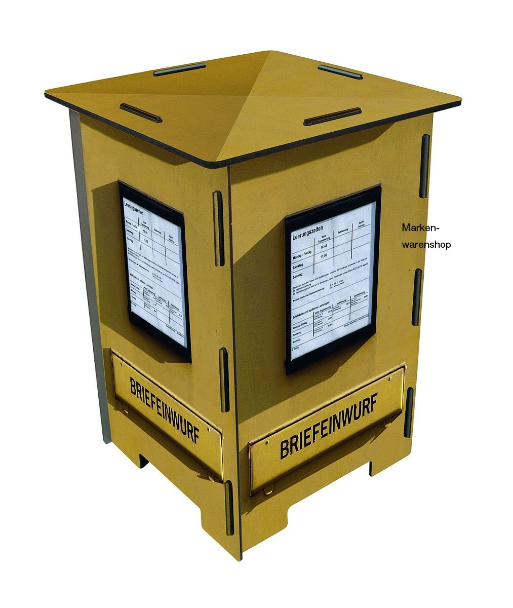 werkhaus photohocker post briefkasten gelb sitzm bel. Black Bedroom Furniture Sets. Home Design Ideas