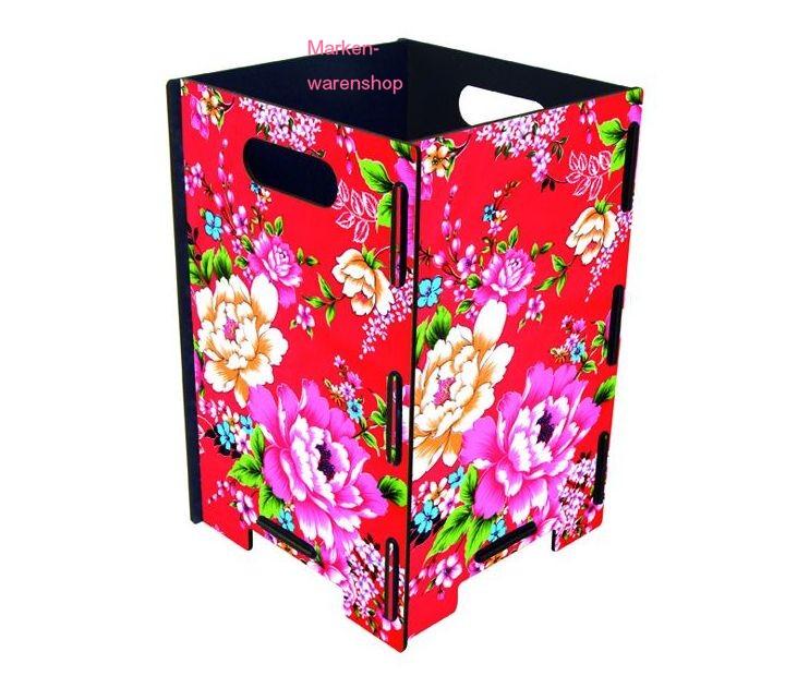 werkhaus papierkorb klein blumen m lleimer abfalleimer box korb ebay. Black Bedroom Furniture Sets. Home Design Ideas
