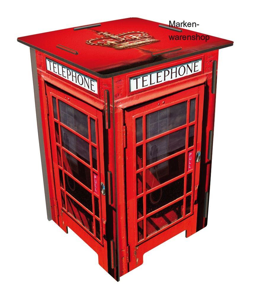 werkhaus photohocker hocker telefonzelle london rot. Black Bedroom Furniture Sets. Home Design Ideas
