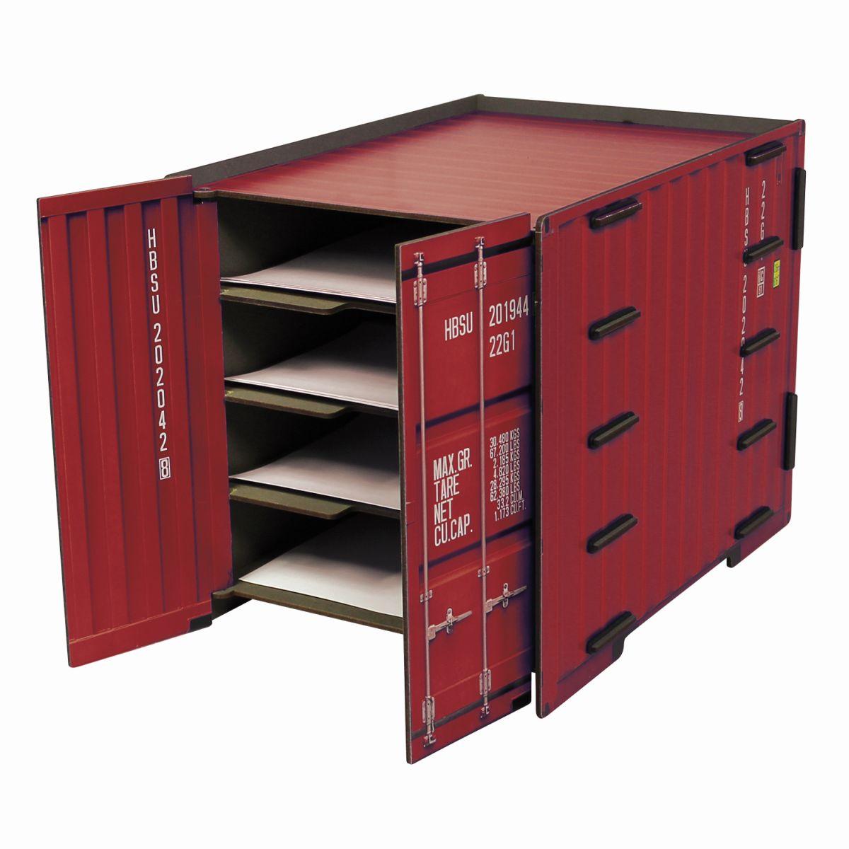 Werkhaus Schreibtischablage Organizer Schreibtischzubehör Ablage Rot NEU!