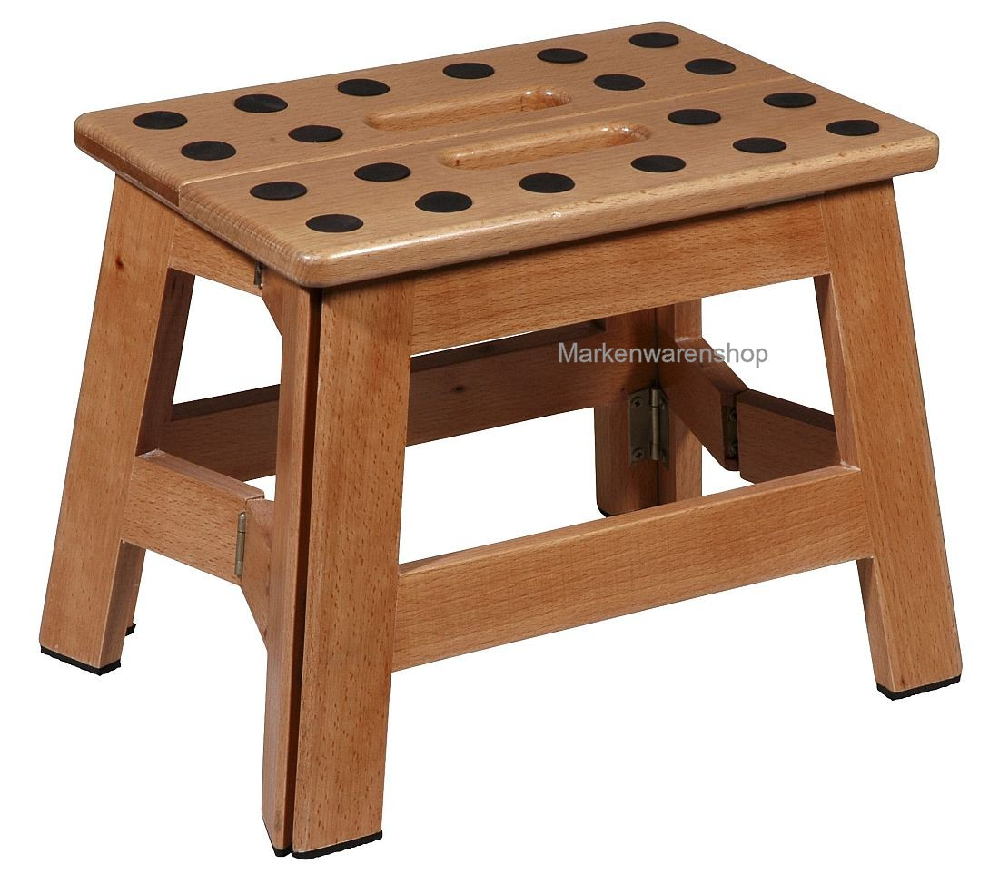 cabanaz klapptritt holz h 23cm 1001945 tritt hocker klapphocker james wood ebay. Black Bedroom Furniture Sets. Home Design Ideas