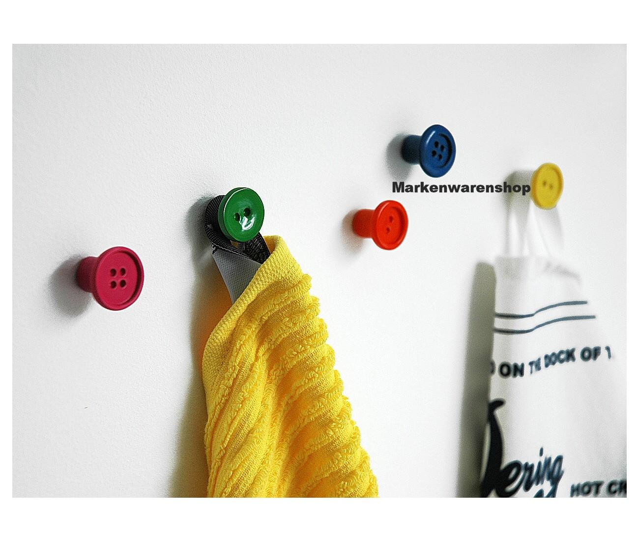 puhlmann wandhaken 5er set kn pfe bunt kleiderhaken garderobe haken cabanaz ebay. Black Bedroom Furniture Sets. Home Design Ideas