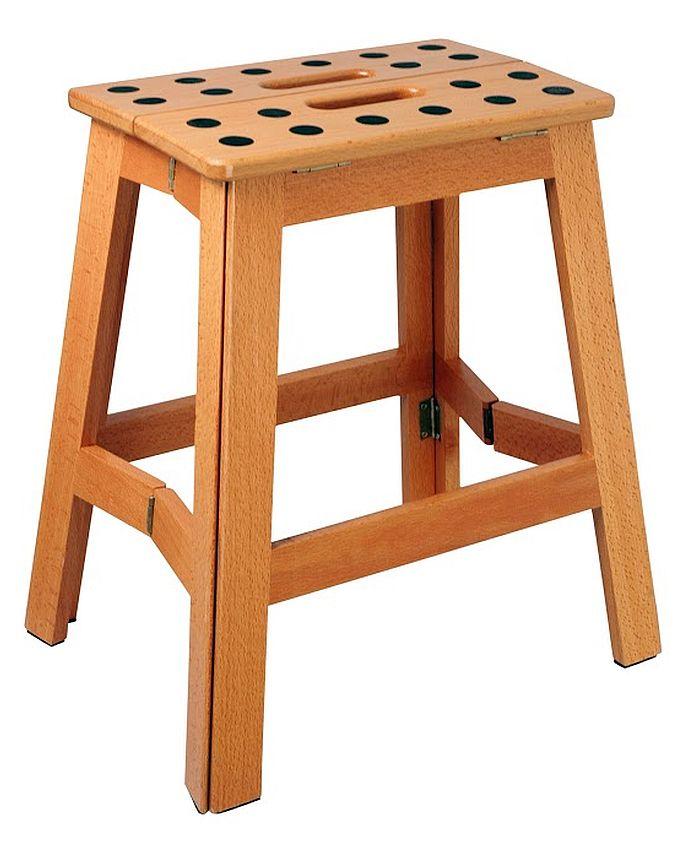 Klapphocker holz  Cabanaz Klapptritt Holz H 41cm