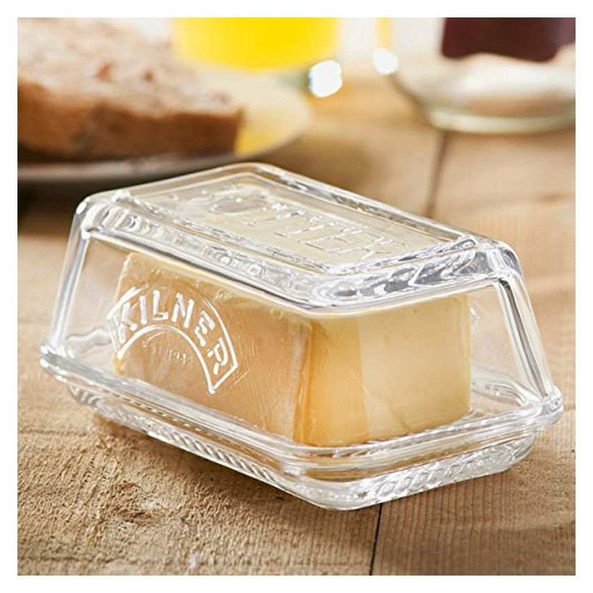 kilner butterdose aus glas f r 250g butter butterschale butterglocke ebay. Black Bedroom Furniture Sets. Home Design Ideas