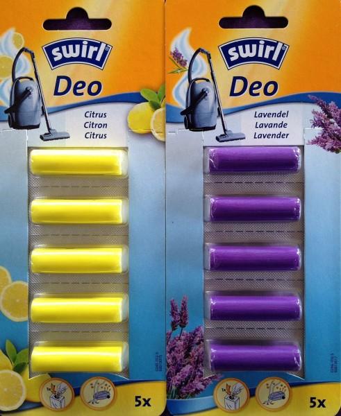 SWIRL Staubsauger Citrus + Lavendel Deosticks Staubsaugerduft Duftstäbchen