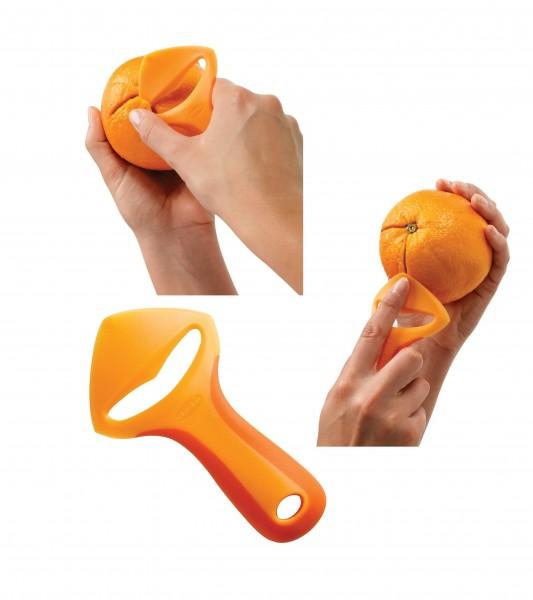 NEU OVP Chef'n 102-516-176 ZeelPeel Orangenschäler Obst Schäler orange chefn