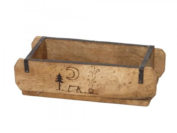 "Laursen Ziegelform ""Abenteuer"" Unika alte Backsteinform Holz Box Kiste"