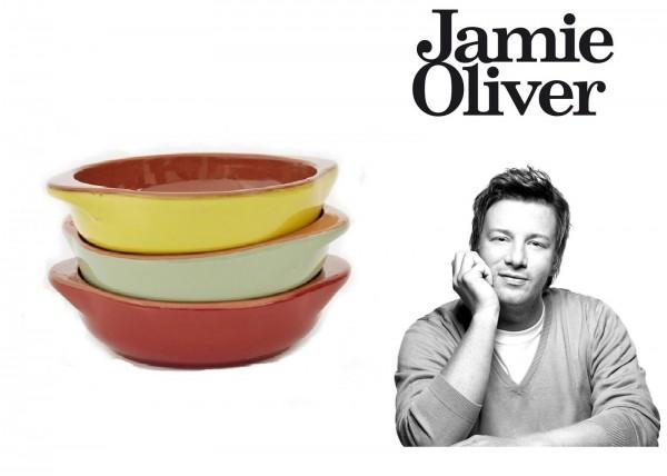 Jamie Oliver Mini Auflaufformen Vintage Italian Rot Gelb Grün 3-teilig 554434