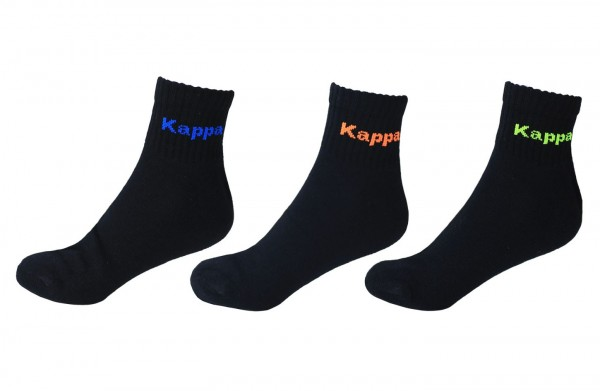 Kappa - Socken 3-24 Paar Gr. 39-42 43-46 Schwarz 303N2I0 Kurz Sport Herren Damen