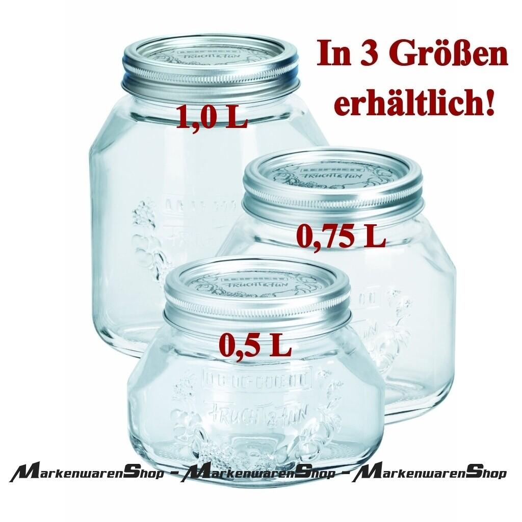 Einmachgläser 1 Liter : leifheit 36303 einkochglas 1 0 liter 3 st ck einmachgl ser einkochen k chenhelfer k che ~ Watch28wear.com Haus und Dekorationen