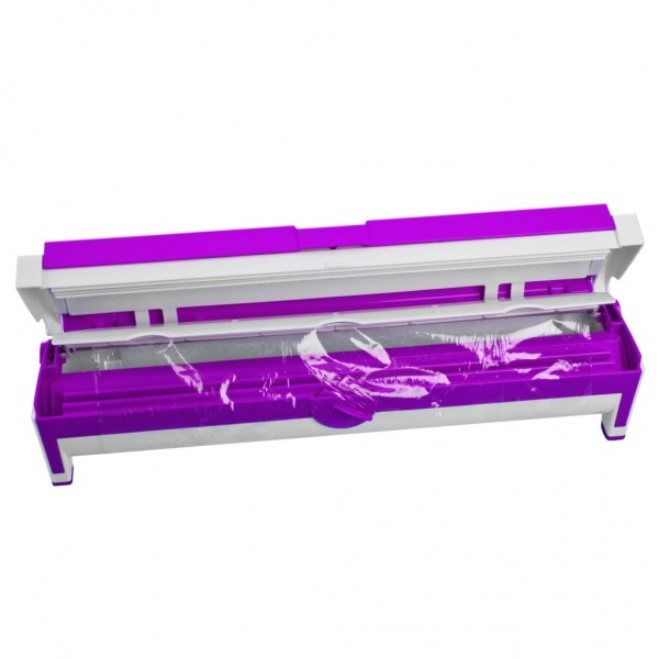Genius - Folienspender Folienschneider Folienhalter lila 15110