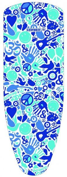 Leifheit - Bügelbezug Cotton Smiley Peace 140x45cm Bügelbrettbezug 1 Wahl 72396