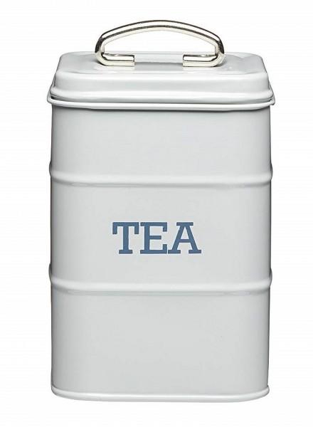 KitchenCraft - Teedose Vorratsdose Vorratsbehälter grau LNTEAGRY