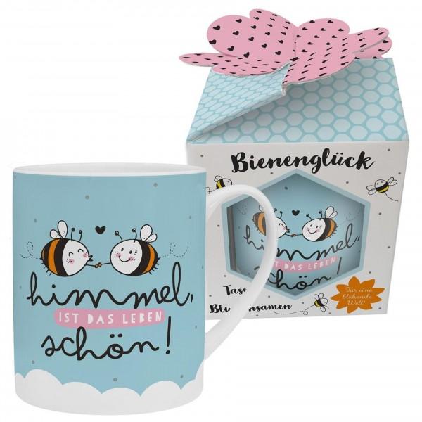 """Sheepworld - XL Kaffee- Tasse mit Blumensamen """"Himmel"""" 0,6l Bienenglück (46558)"""