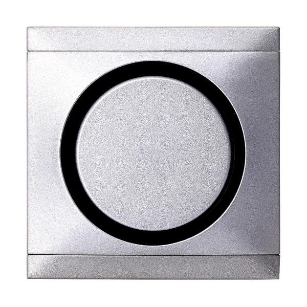 REV Titan-Silber Ascoli Kreuzschalter m. Rahmen 927108 Lichtschalter Schalter
