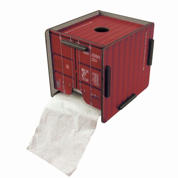 Werkhaus - ToPa Container Rot CO1202 WC Rollen Toilettenpapier Klopapier Halter
