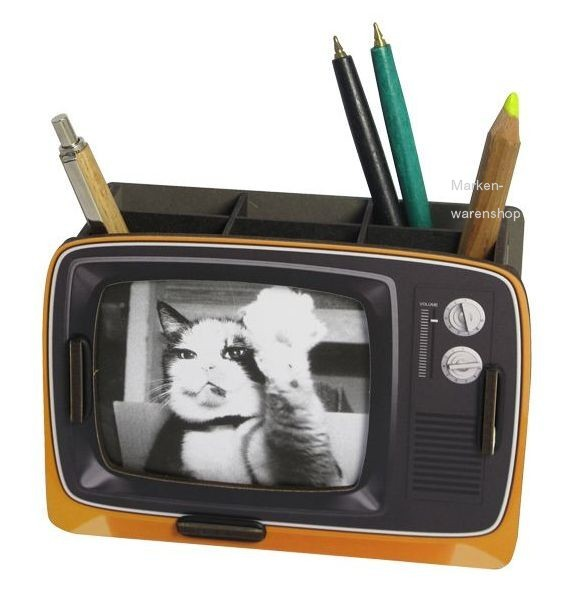 Werkhaus Stiftebox & Bilderrahmen Stifteköcher Stiftehalter TV Orange